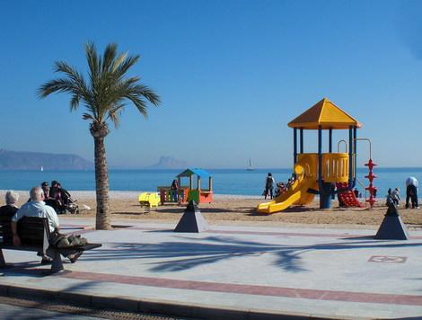 albir kids playground on the beach