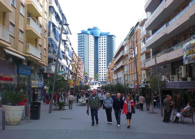 benidorm pedestrian only area