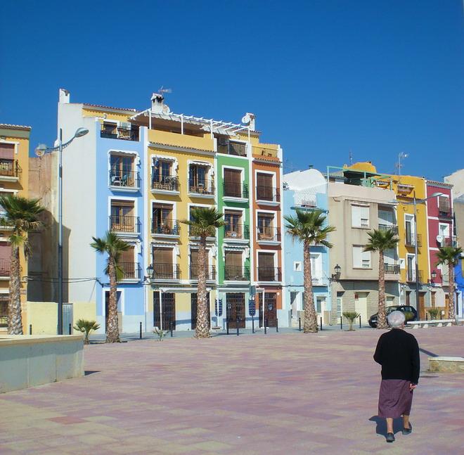 villajoysa colorful houses