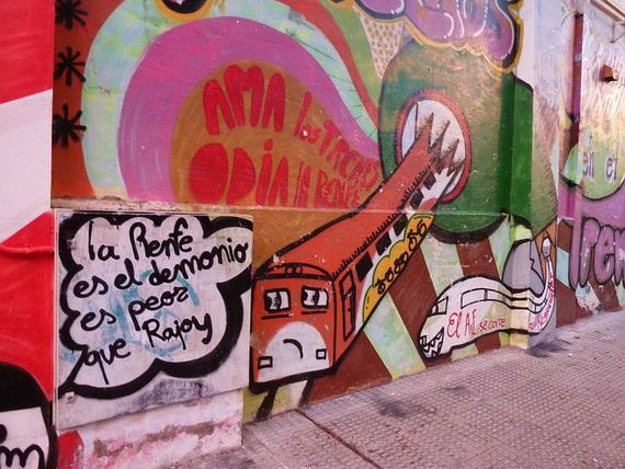 Mural on a Zaragoza street