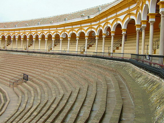Bullring in Seville, Spain - copyright greenacre8, Creative Commons
