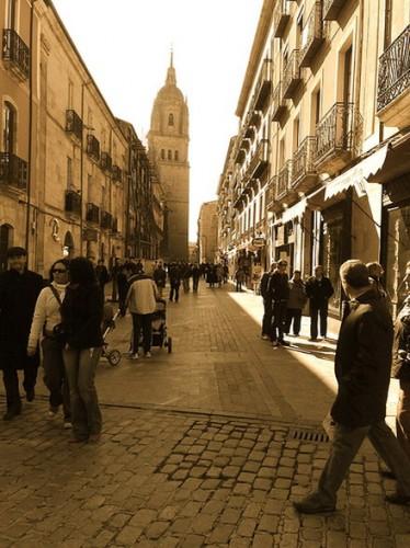 Salamanca street scene - copyright gabemac, Creative Commons