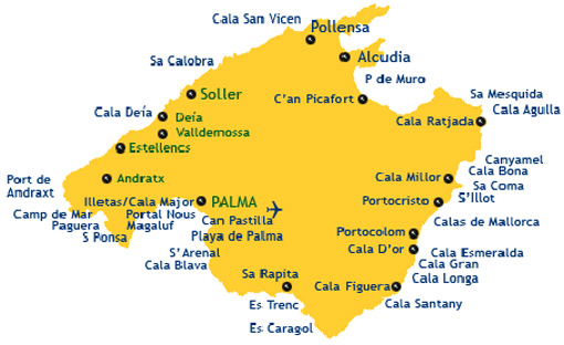Mallorca Map Seriously Spain