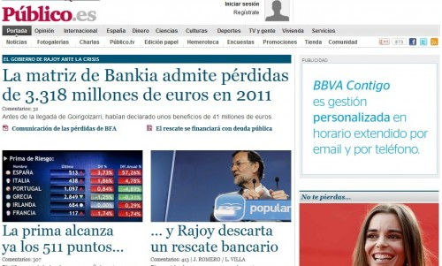 Which Left-Wing Spanish Newspapers are Online in Spain