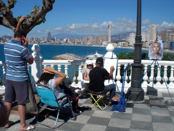 tourists in benidorm